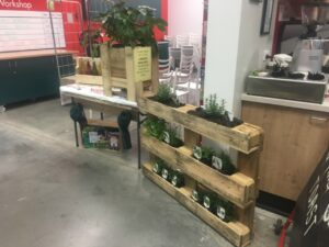 Plant displays made with pallets